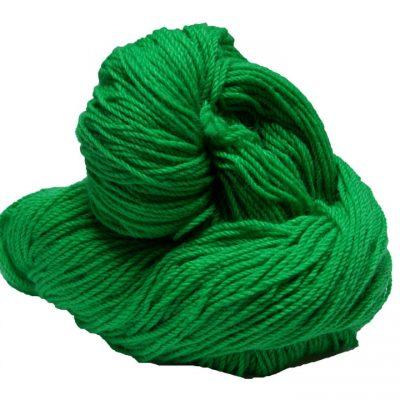 Hank of green knitting wool