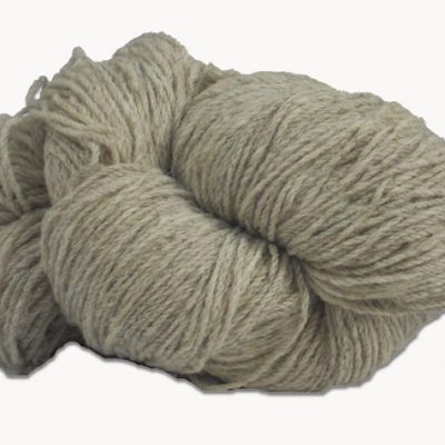Hank of light grey undyed knitting wool