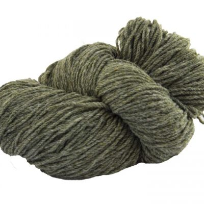 hank of lichen green knitting wool