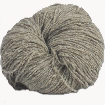 Hank of light grey Jacob knitting wool