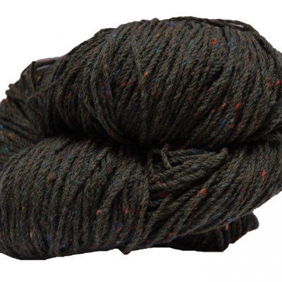 Hank of moss green tweed knitting wool