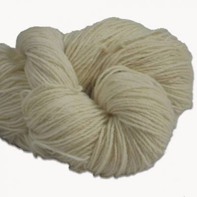 Traditional Irish Aran knitting wool in Natural white