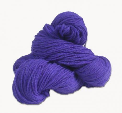 Traditional Irish Aran knitting wool in Royal Purple