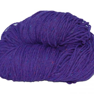 Hank of purple knitting wool