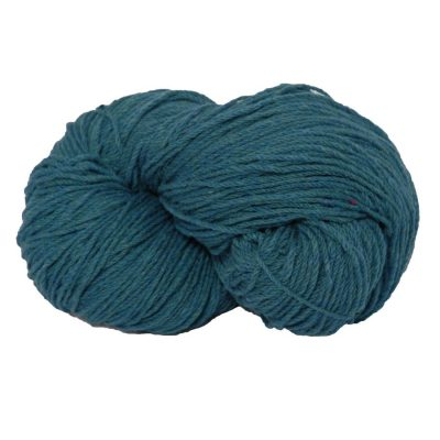 Traditional Irish Aran knitting wool in blended Turquoise Fleck
