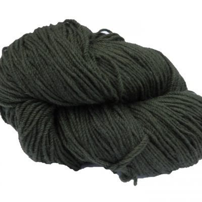 Traditional Irish Aran knitting wool in earthy Moss Green