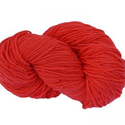Traditional Irish Aran knitting wool in Poppy Red