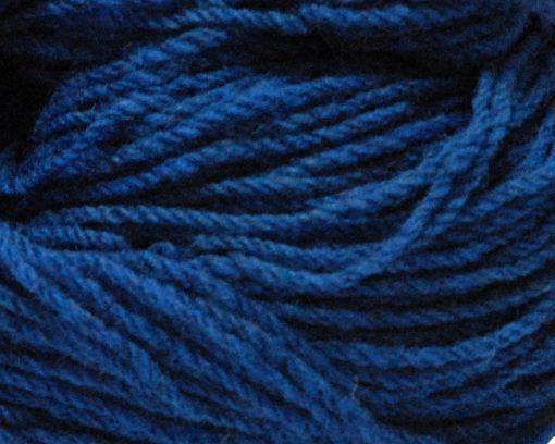 detail of royal blue knitting wool