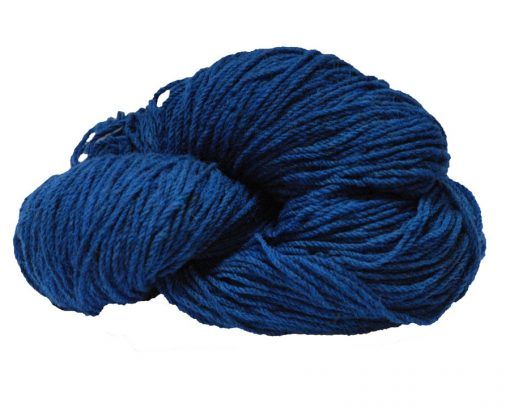Hank of royal blue knitting wool