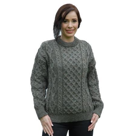 sweater-aran-wool-derby-tweed-ladies-l
