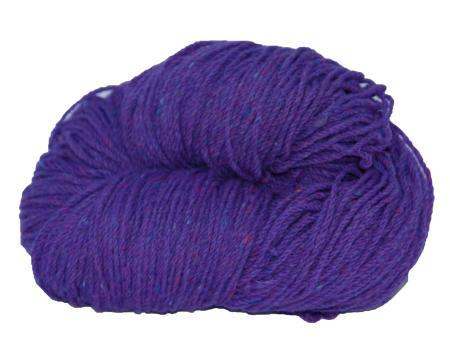 Traditional Irish Aran knitting wool in Purple Violet