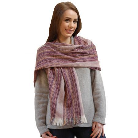 Crios wool shawl- Raspberry