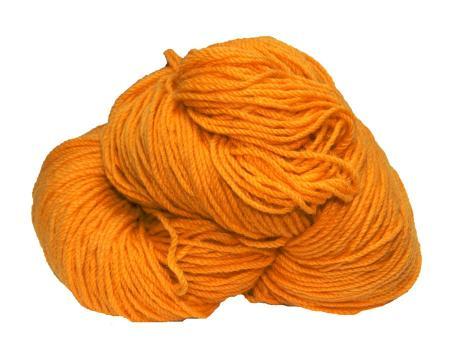 Hank of gold knitting wool