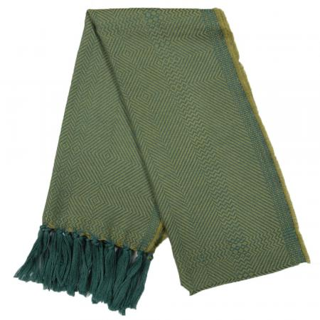 Kerry Lambswool Scarf Green Lime Twill 1000