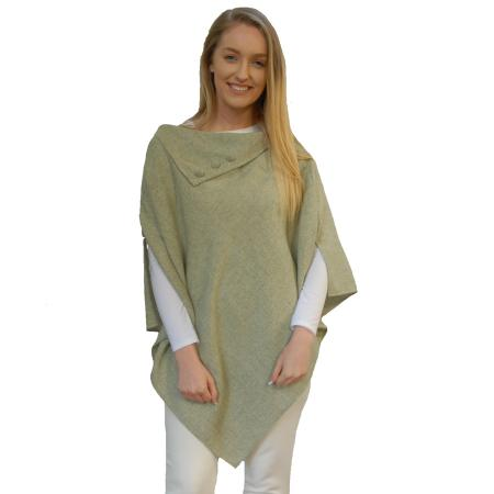 elegant poncho in Hint of chives pastel green. Free size