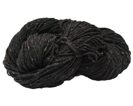 Traditional Irish Aran knitting wool in Rich blended Black Tweed.