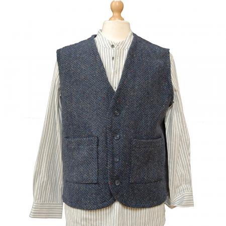 100% Irish Wool Tweed, Donegal Tweed Waistcoat, Kerry Woollen Mills