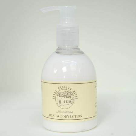 240 ml bottle of Lanolin based Hand and Body moisturising lotion with pump dispenser