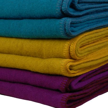 Irish wool blanket stack WOW