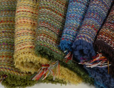 partial swatch of lambswool spectrum scarves