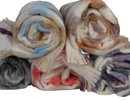 Mohair blanket swatch