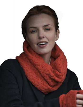 Supersoft lambswool snood scarf collars