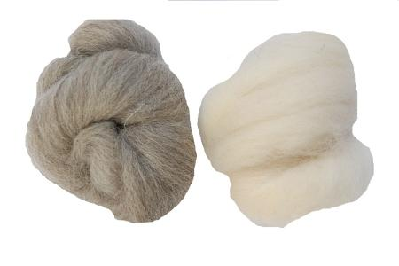 undyed wool tops