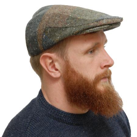 Tweed cap on model