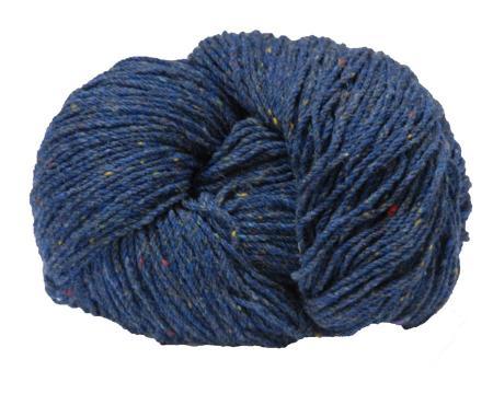 Traditional Irish Aran knitting wool in rich blended Blue Fleck