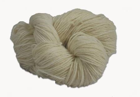 Traditional Irish Aran knitting wool in Natural white