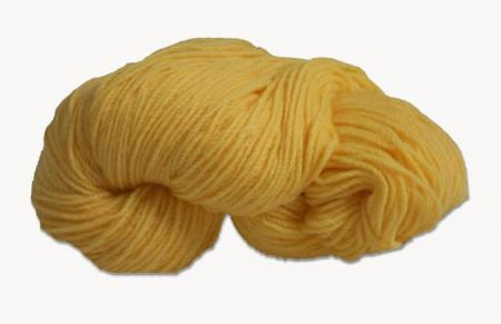 Hank of yellow knitting wool