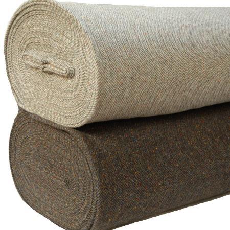 100% Wool Tweed Fabric stack Th 58 & 71 herringbone