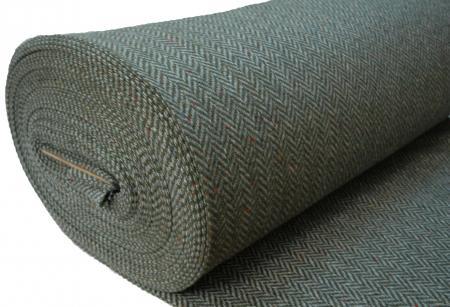 100% Wool Tweed fabric Heavy weight Herringbone 513E roll