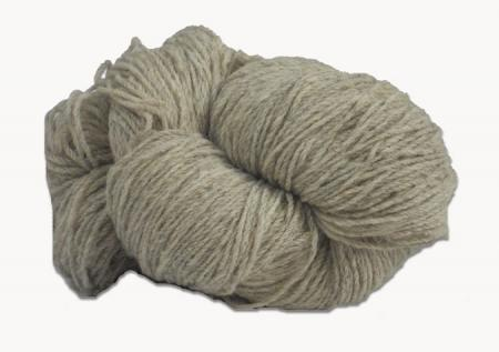 Hank of light grey undyed knitting wool