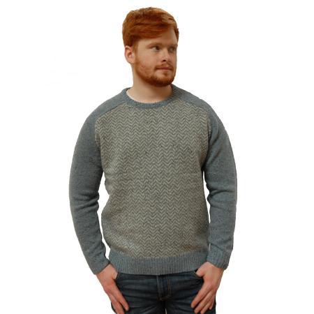 Mens sweater on model
