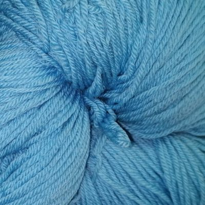 merino superwash yarn in baby blue color detail