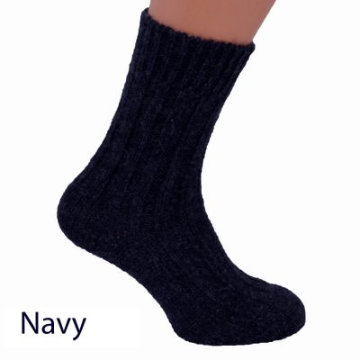 Thick wool socks in Navy