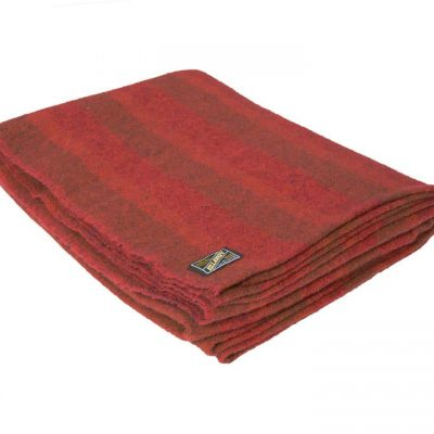 Red wool throw