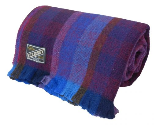 Dark blue and red throw